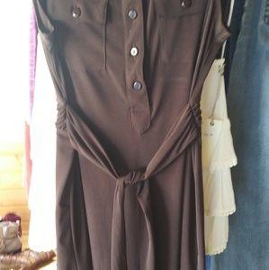 New Brown Dress Tie Back